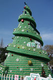 Sept vers le haut de l'arbre de Noël de bouteille Photographie stock libre de droits