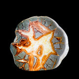 Septarian concretion nodule scalenohedral calcite Stock Images