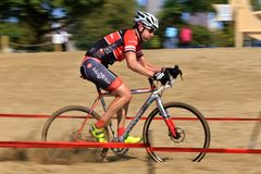 Bicycle Racer in the sand Royalty Free Stock Image