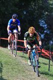 Bicycle Racers on the hill course Stock Photo