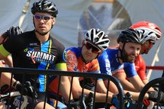 Elite Mens Cyclo-cross Stock Photography
