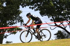 Bicycle Racer Breaking away Royalty Free Stock Photography