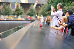 September 11 infinite pool memorial. A shot of the infinite pool in the September 11 memorial Royalty Free Stock Image