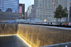 September 11 infinite pool memorial Royalty Free Stock Photography
