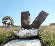 September 11 monument. Eagle Rock Reservation unveils piece of the foundation of World Trade Center on september 6 few days before the 10th anniversary of 9/11 Stock Photography