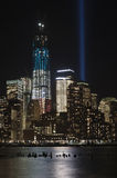September 11 tribute lights Stock Photo