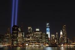 September 11 tributelampor Fotografering för Bildbyråer