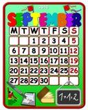 September 2010-Kalender Stockfoto