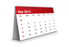 September 2012 - Calendar series. September 2012 - The Calendar series Royalty Free Illustration