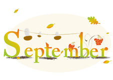 September. Vector illustration representing the concept of seasons Stock Photos