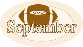 September. Graphic representing the month of September and the start of the football season Royalty Free Stock Photo