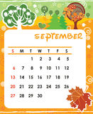 September. Decorative Frame for calendar - September Stock Image