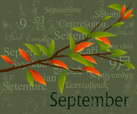September. 2009 Calendar concept, simple to edit it, all the dates trusted from the PC calendar Stock Photography