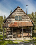 3. September 2016 - alaskische historische Blockhaus Hoffnung, Alaska Lizenzfreie Stockfotografie
