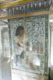 1500 years BC Ancient painting on wall at Egyptian Graves. 23 September 2017 Ancient colorful painting on wall inside Egyptian Nobles Graves that painted before royalty free stock photos
