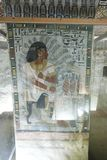1500 years BC Ancient Egyptian Graves. 23 September 2017 Ancient colorful painting on wall inside Egyptian Nobles Graves that painted before 1500 years BC stock photos