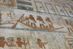 Ancient painting on wall at Egyptian Graves Stock Photography