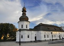 September 12, 2010 - Ancient historical architecture in the center of Kiev against the blue sky with white clouds royalty free stock photos