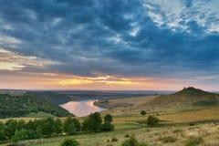 September auf dem Fluss Dnister Stockfotos