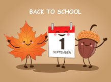 September 1. Back to school. Vector illustration. Day of knowledge. September 1. Back to school. Vector. Day of knowledge Stock Photography