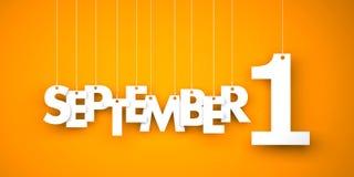 September 1 -  background Royalty Free Stock Photos