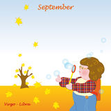 September base calendar to add the days Stock Image