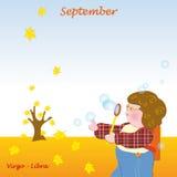 September base calendar to add the days. Base calendar to add the days Stock Image