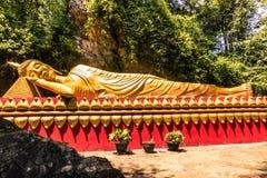 20 september, 2014: Boeddhistisch standbeeld in Luang Prabang, Laos Stock Fotografie