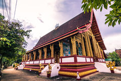 20 september, 2014: Boeddhistische tempel in Luang Prabang, Laos Stock Fotografie