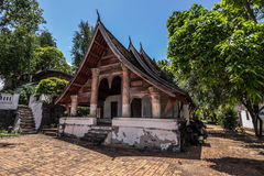 20 september, 2014: Boeddhistische tempel in Luang Prabang, Laos Royalty-vrije Stock Fotografie