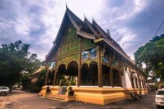 25 september, 2014: Boeddhistische tempel in VIentiane, Laos Royalty-vrije Stock Afbeeldingen