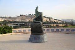 September 11 bosatt minnes- Plaza i Jerusalem, Israel Royaltyfri Foto