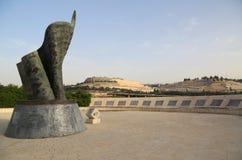 September 11 bosatt minnes- Plaza i Jerusalem, Israel Royaltyfria Foton