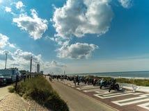 SEPTEMBER 2017 - Boulevard van Zandvoort aan Zee, Nederland Stock Afbeelding