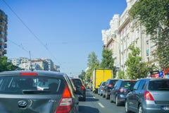 Busy traffic, Bucharest