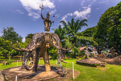 26. September 2014: Buddhistische Steinstatuen in Buddha parken, Laos Stockfotos