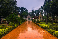 25. September 2014: Buddhistischer Garten in Vientiane, Laos Lizenzfreies Stockfoto