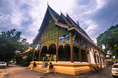 25. September 2014: Buddhistischer Tempel in Vientiane, Laos Lizenzfreie Stockbilder