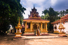 26. September 2014: Buddhistischer Tempel in Vientiane, Laos Lizenzfreies Stockbild