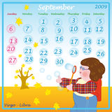 September calendar 2009 Stock Image