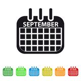 September Calendar Icon -  Colorful Vector symbol. Colorful Vector Set Stock Images