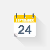 24 september calendar icon. On grey background Stock Photos