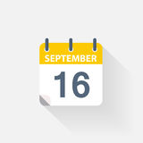 16 september calendar icon Royalty Free Stock Photography