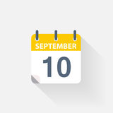 10 september calendar icon Royalty Free Stock Image