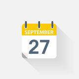 27 september calendar icon. On grey background Stock Photo