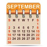 September calendar of 2018 year - vector. September calendar of 2018 year – stock vector Stock Photo