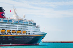 SEPTEMBER 8, 2014: Cruise liner Disney Magic docked at Port of Malaga, Spain. Royalty Free Stock Photography