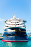 SEPTEMBER 8, 2014: Cruise liner Disney Magic docked at Port of Malaga, Spain. Royalty Free Stock Images