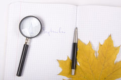 September cue Royalty Free Stock Image