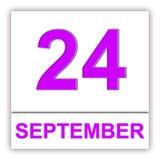24 september Dag op de kalender stock illustratie
